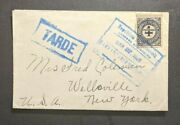 1929 Cartagena Colombia Cover To Wellsville New York Usa Tarde Aux