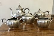 Derby Silver Plate Co Coffee And Tea Set Of 5 Pieces