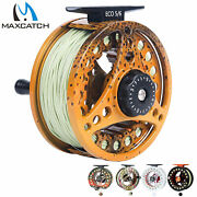 Maxcatch 3/4 5/6 7/8wt Pre-loaded Fly Fishing Reel With Fly Line Backingleader