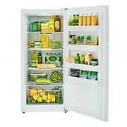 High-capacity 13.8 Cu Ft Frost Free Upright Freezer In White Digital Control Led