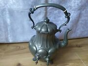 Rare Vintage Metal Kettle Antique Kitchenware Shaw And Fisher Sheffield Bulette
