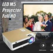 Led M5 Projector Full Hd Video 4000 Lumen 1280 720p Android Bluetooth 5g Wifi