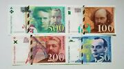France Lot Of 4 Banknotes Very Rare Nice Unc Condition Pre Euro Banknotes