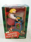 Rare 1994 Mr Christmas Animated Rag Doll And Jack In The Box, Vintage, Good Shape