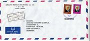 Jordan 1993 Amman-cologne Germany Registered Air Mail Cover Vgc