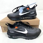 Off White Nike Air Max 97 The Ten Black Menand039s 5.5 Sneakers Shoes Womenand039s 7