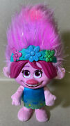 """Dreamworks Trolls World Tour Color Poppin' Poppy 12.5"""" - Sings And Lights Up"""