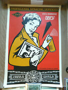 Stay Up Girl Poster By Shepard Fairey Signed Open Edition Prints And Memorabilia