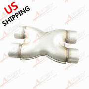 Us Ship 2.25 Inlet/outlet Aluminized Steel Exhaust Crossover X-pipe Joiner