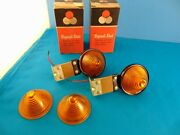 2 Vintage Amber Clearance Lamps 1950and039s 1960and039s Signal Stat 12v Turn Signal Nos