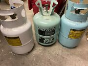 Refrigerant Empty Tanks 3 For 30 Lb Reusable Recovery Tank 2-r134a 1-r12