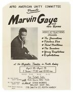 Flyer Afro American Unity Committee Presents Marvin Gaye And His Revue Added