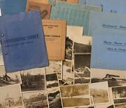 Archive Canadian North Pacific Railway Documents Including Blueprints 1904