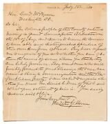 Milton George Urner / Autograph Letter Signed From Maryland Congressman