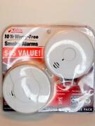 New Kidde 2 Pack Worry Free Smoke Alarms 10-year P3010l I9010 Sealed Battery