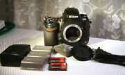 Nikon D 700 Camera Body Only With Charger Batteries 4 Gb Cards And More