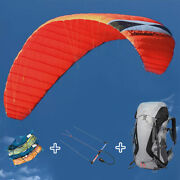 4 Line 7㎡ Power Stunt Kite With Bars And Harnesses For Outdoor Kitesurfing Flying