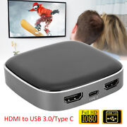 Hdmi To Usb 3.0 Type-c Adapter Audio Video Collector Capturing 1080p/60hz 48khz