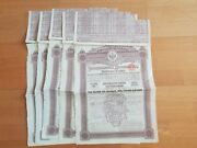 A Lot Of 5 Russian Bond Of 12 500 Francs-or 4 1889 Uncancelled With Coupons