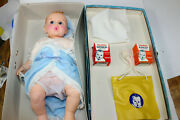 Gerber Baby Doll And Suitcase Case Food Bottle Original Tag Nos
