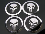 Punisher Wheel Cap Covers - Suits 68mm Thin Metal Wheel Caps Badges Emblems