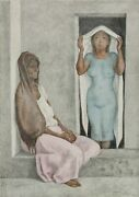 Francisco Zuniga El Rebozo Blanco Lithograph Signed And Numbered In Pencil