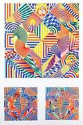 Perez Melero American Eagle Screenprint Signed And Numbered In Pencil