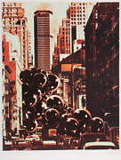 Pol Bury, Pan Am Building, Screenprint, Signed And Numbered In Pencil