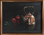 Thomas Kerry Apples And Kettle Oil On Canvas