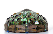 Unknown Artist, Dragonfly Lamp Shade Ii, Stained Glass