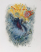Reuven Rubin, X From Visions Of The Bible, Lithograph, Signed And Numbered In Pe