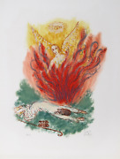 Reuven Rubin, Vi From Visions Of The Bible, Lithograph, Signed And Numbered In P