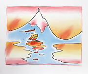 Peter Max Himalayan Valley Lithograph Signed And Numbered In Pencil