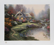 Thomas Kinkade Everettand039s Cottage Offset Lithograph Signed And Numbered In Mar