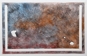 Lawrence Brown Untitled Watercolor And Torn Paper Collage Signed And Dated Ve