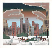 Thomas Mcknight, Central Park Ii, Screenprint, Signed And Numbered In Pencil
