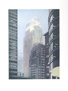Richard Haas Minneapolis Dusk Etching With Aquatint Signed And Numbered In Pe