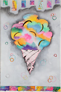 D. Burton, Tutti Frutti, Watercolor And Mixed Media On Paper, Signed And Dated I