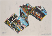 Malcolm Morley Postcards From Miami Lithograph Signed And Numbered In Pencil