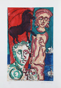 Malcolm Morley Fallacies Of Enoch 3 Etching With Aquatint Signed And Numbered