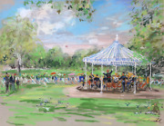 Kamil Kubik Band In The Park London Pastel On Paper Signed L.r.
