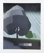 Suzanne Caporael Untitled - Rain Woodcut Signed And Numbered In Pencil