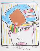 Peter Max Zeroand039s Friend Lithograph Signed And Dedicated In Marker