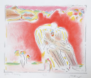 Peter Max The Garden Lithograph Signed And Dedicated In Pencil
