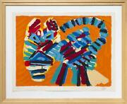 Karel Appel, Sunshine Cat From The Cats Portfolio, Lithograph, Signed And Number