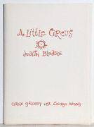 Judith Bledsoe A Little Circus Portfolio Of 14 Lithographs Each Signed In Pen