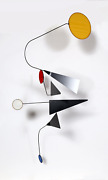 Joel Hotchkiss Primary Geometric Mobile Metal Frame With Colored Plastic Sheet