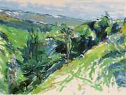 Alfred Sandford Down The Hill No. 2 Acrylic On Arches Paper Estate Stamped Ve