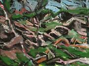 Alfred Sandford In The Woods No. 1 Acrylic On Arches Paper Estate Stamped Ver