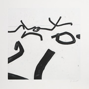 Bernar Venet No. 6 Etching With Aquatint Signed And Numbered In Pencil